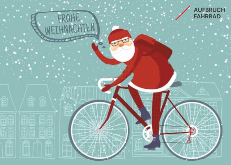 weihnachtsgr e mit aufbruch fahrrad aufbruch fahrrad